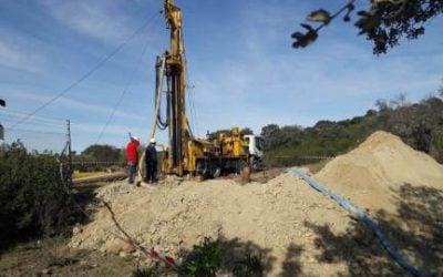 Excavación de pozos de agua